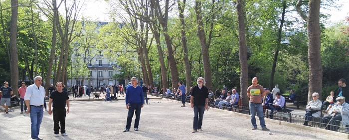 Boule players, Jardin de Luxembourg, Paris, France