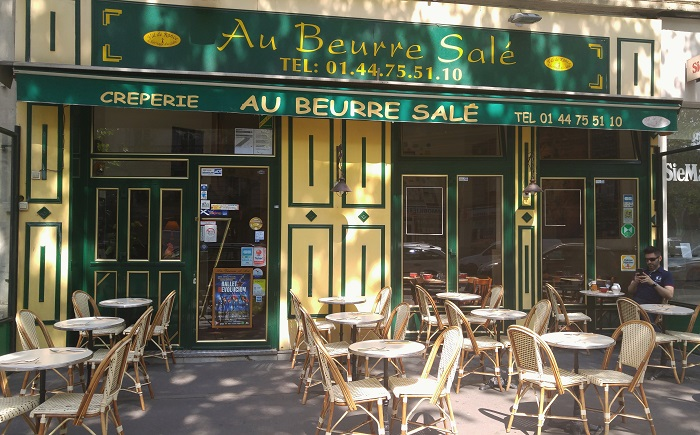 Au Beurre Sale creperie, Paris, France