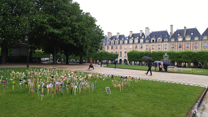 Art Installation, Place des Voges, Paris, France