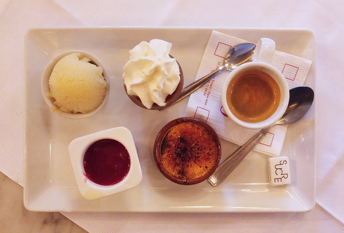 Cafe gourmand, Cafe Hugo, Paris, France