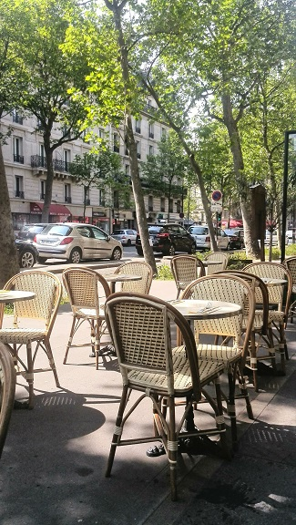 Cafe tables, Paris, France