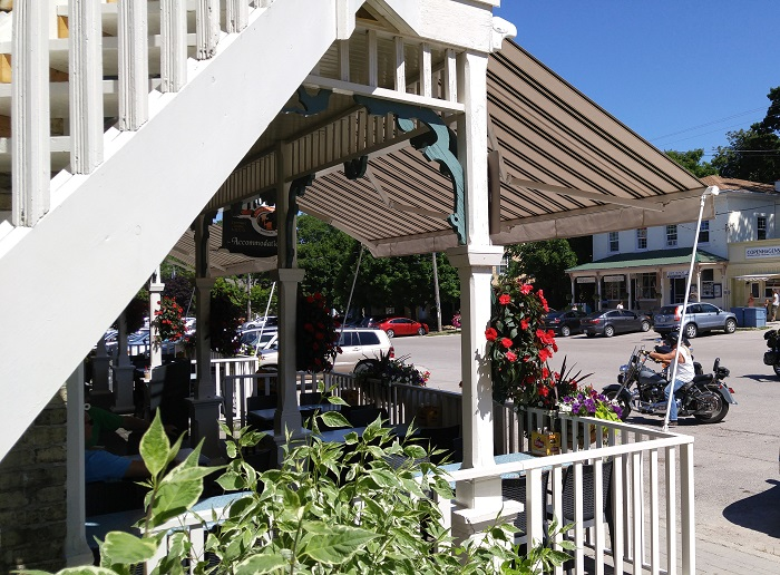 Albion Hotel patio, Bayfield Ontario