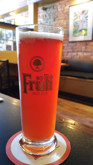 Fruli beer, Black Dog Pub, Bayfield Ontario