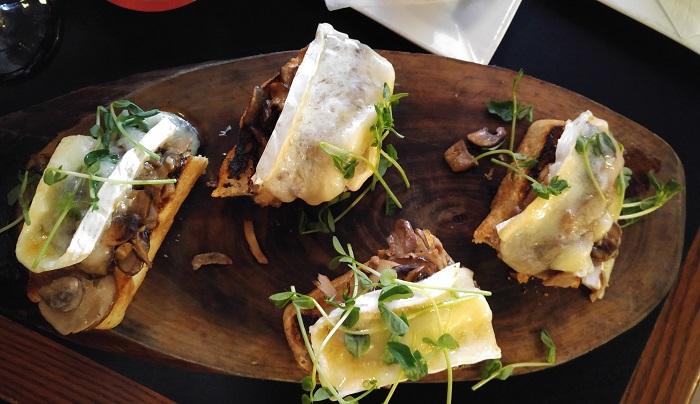 Mushroom brie bruschetta, Black Dog Pub, Bayfield Ontario