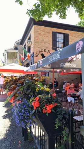 Black Dog Pub patio, Bayfield Ontario