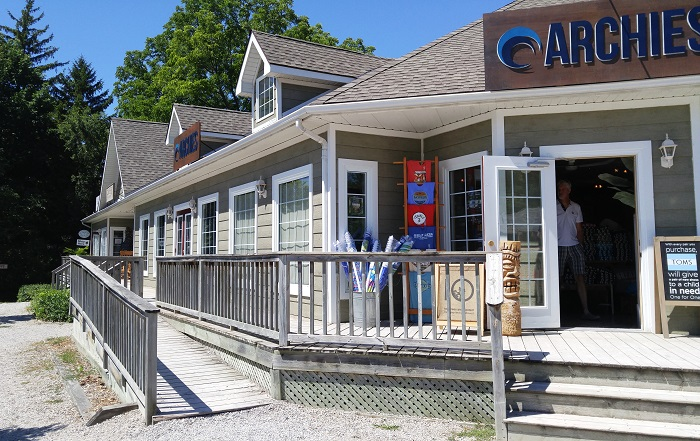 Archie's shop, exterior, Bayfield Ontario