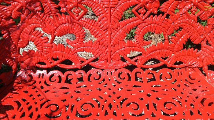 Red bench, detail