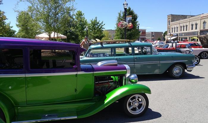 Vintage car show, Goderich Ontario