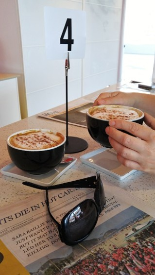 Cappuccinos at Edgar and Joe's Cafe | London, ON