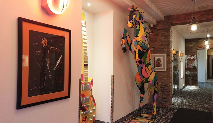 Colourful Sculpture Inside Retro Suites - Chatham, ON