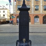 Water fountain, Ratusz, Bialystok Poland